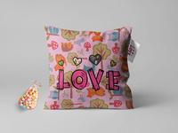 Single Love Pillow Mock Up