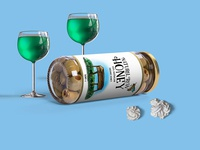 Free Food Realistic Glass Jar Psd Mock Up