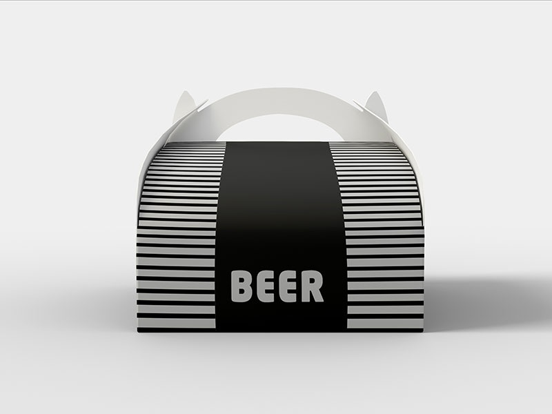 free food rounded packaging box mock up