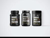 New Modern Gym Powder Bottle Label Mockups