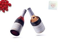 New Red Wine Bottle Label Presentation Mockup