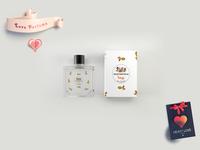 Premium Perfume Bottle Label Mockup