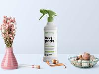 Foot Pad Spray Cleaner Mockup