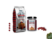 Pancake Plastic Pouch Jar Mockup