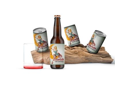 Beer Can Branding Presentation Mockup