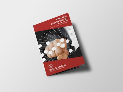 Creative Corporate Bi Fold Brochure Design Template