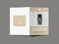 Creative Photographer Bi Fold Brochure Design Template