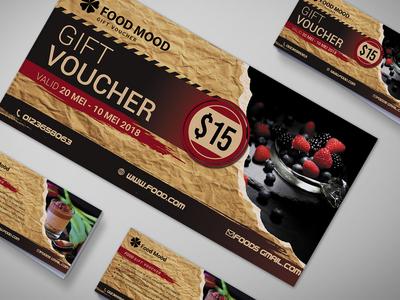 Bakery Gift Voucher Design Template