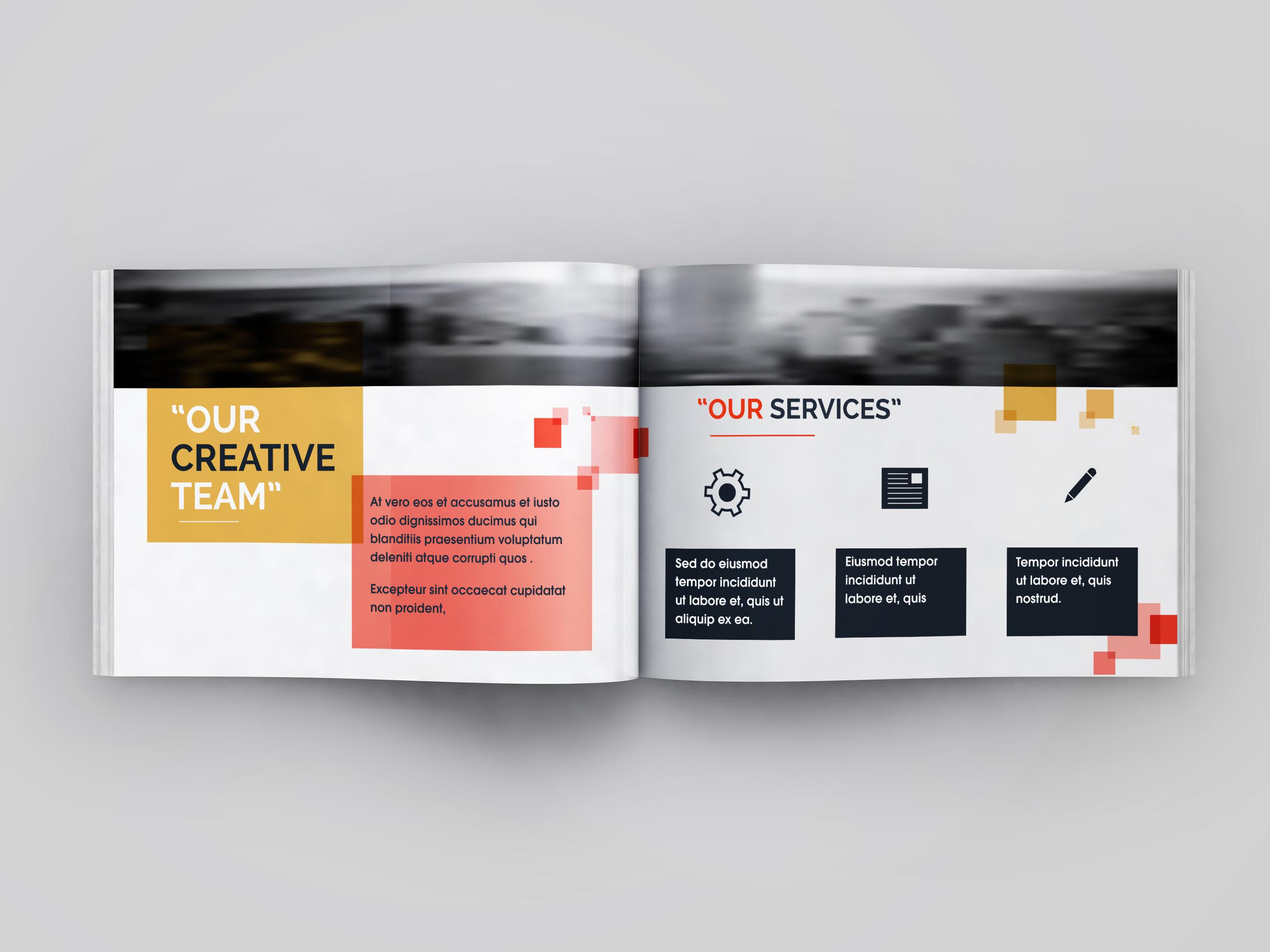 Free company profile catalogue mockup
