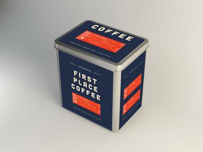 Coffee Steel Tin Mockup