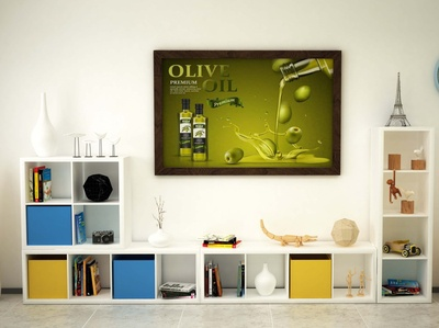 Free Olive Oil Poster Mockup