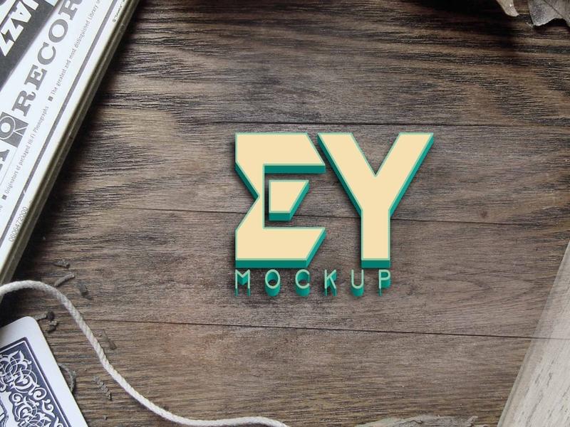 Free Matte Plastic 3D Logo Mockup psd mockups mockup psd download mock-up mockup download mock-ups download mockup