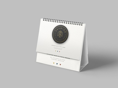 Free Office Desk Calendar Mockup
