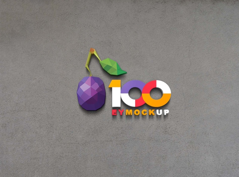 Free New 3D Logo Mockup psd mockups mockup psd download mock-up mockup download mock-ups download mockup