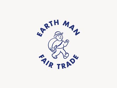 Fair Trade Brand Identity blue illustration character logotype fairtrade emblem logo branding brand and identity brand