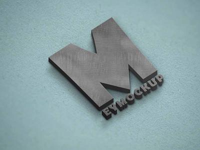 Free Concrete 3D Logo Mockup mockups mockup psd
