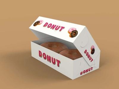 Free Open Donut Paper Box Mockup By Arun Kumar On Dribbble
