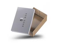 BRANDED SHOES BOX LABEL DESIGN MOCKUP
