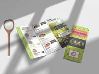 Green Veggie Tri Fold Menu Psd Template