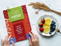 New Chicken 6 Page Menu Card Template