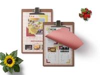 New La Rose Psd Menu Template Design