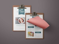 New Palm Food Menu Design Template