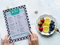 Single Page Restaurant Menu Card Psd Template