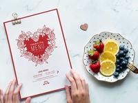 Prime Valentine S Day Dinner Menu Template