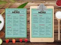 Premium Nero Cafe Menu Design Template