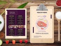 Premium Vintage Food Menu Design Template