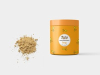 Small Supplement Protein Jar Label Mockup