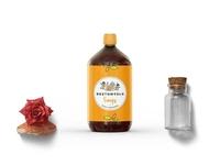Premium Glass Bottle Psd Mockup