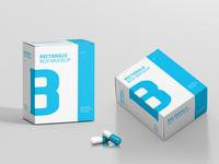 Vitamin Capsule Box Psd Mockup