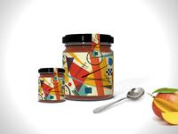 Mango Jam Jar Psd  Mockup