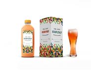 Complete Juice Packaging Label Mockup