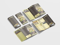 Hot Coffee Shop Menu Tri Fold Brochure Design Template