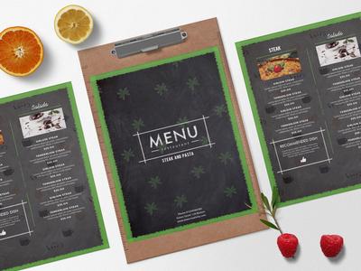 Mexican Menu Bi Fold Brochure Design Template