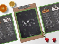 Mexican Menu Bi Fold Brochure Design Template