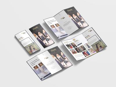 Retro Fashion Brochure Tri Fold Design Template