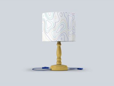 Free Night Room Table Lamp Mock Up