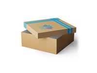 Free One Design Gift Box Psd Mockup