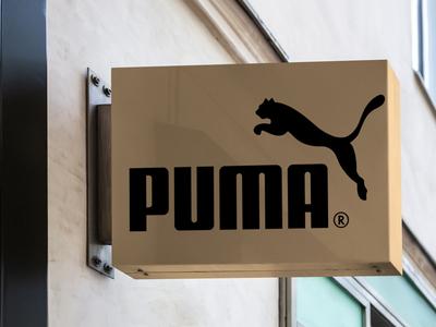 Free Puma Hanging Sign Mockup
