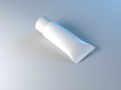 3D Cosmetic Tube White