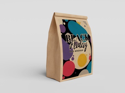 Free Brown Paper Single Bag Mockup