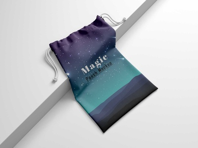 Free Drawstring Gifts Bag Mockup