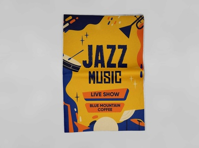 Free Jazz Music Event Flyer Mockup