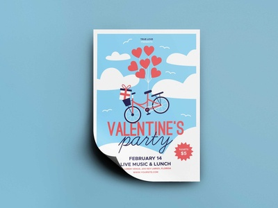 Free Music Show Valentine Flyer Mockup