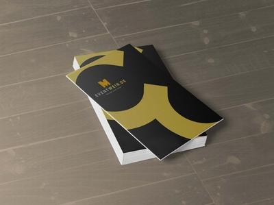 New Business Card Presentation Mockup