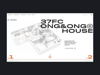 37FC Q/A webdeisgn web architecture slider minimal page layout ux flat clean design ui