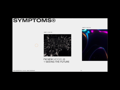 99 Symptoms → BOX ® webdesign typogaphy grid web 3d animation minimal concept page layout ux flat clean design ui